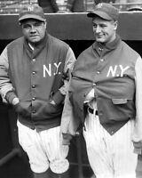 New York Yankees BABE RUTH & LOU GEHRIG Glossy 8x10 Photo Baseball Print Poster