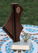 Vintage Mid-Century Modern Trophy Wood Marble Music Junior Grange Talent Art