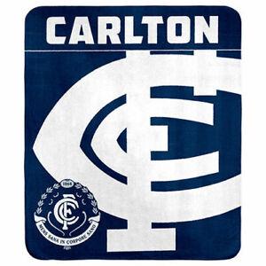 Carlton Blues AFL Polar Fleece Throw Rug Blanket Mothers Fathers Birthday