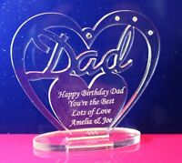 Personalised Heart for Dad with message  Birthday, Father's Day Gift/Ornament