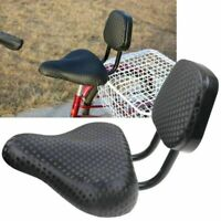 Wide Comfort Cruiser Tricycle Bike Bicycle Saddle Seat Pad w/Back Rest Universal