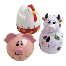 Farmhouse Animal Kitchen Timer Cow Pig Rooster 60 Minute Time Out