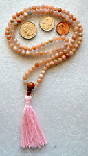 Moonstone Natural Flower Handmade Mala Beads Necklace -Blessed Karma Nirvana