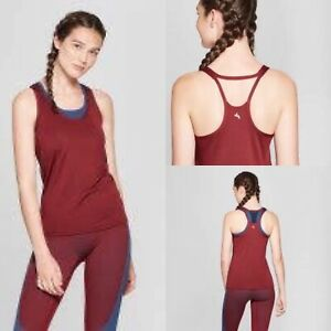 JoyLab Women's Fitted Mesh Tank Top Active Mulberry