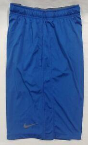 Nike Dri Fit Men Athletic Basketball Shorts Blue with Pockets -  NWOT Medium