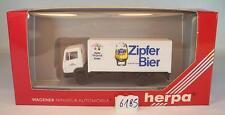 Herpa 1/87 Mercedes Benz 814 Camion Valise Zipfer Bière neuf dans sa boîte #6185