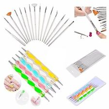 20pc Nail Manicure Pedicure Beauty Painting Polish Brush and Dotting Pen Set