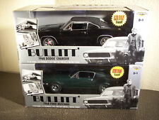 Ertl American Muscle BULLITT 68 Mustang 68 Charger Chase Pair 1:18 Scale