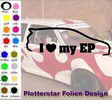 I love my EP JDM Sticker Aufkleber OEM Power fun like Shocker Bitch Hater