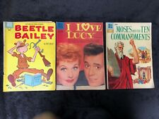1950s Dell comic: Beetle Bailey 10 I Love Lucy 23 Moses & the Ten Commandments 1