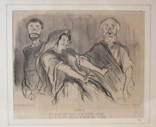 Honore Daumier France 1808 -1879  Lithograph Physionomies Tragiques No. 5, 1851