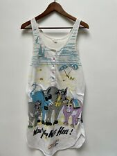 Vintage 'Wish You Were Here' Sleeveless Jersey Cotton Donkey Beach Cover Up