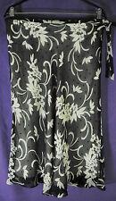 "LAURA ASHLEY Silk Skirt UK14/EU40 33"" Waist Semi-Sheer Floral Polka Dot 28"" Long"