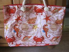 XXL Tasche ♥ große Strandtasche ♥ Sporttasche Badetasche Shopper Krebs Muscheln