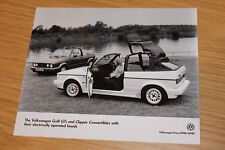 VW Golf GTi & Clipper Convertibles Press Photograph With Electrical Hood