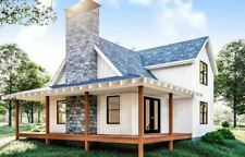 Farmhouse style cabin | covered porch | pack 10 house in PDF file house plan-A