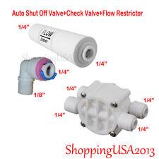 """Auto Shut Off Valve 1/4"""" + 300ML Flow Restrictor + Check Valve 1/4""""-1/8"""" RO"""