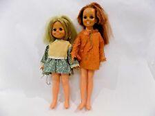 VINTAGE IDEAL CRISSY DOLL GROWING HAIR 1969 ORIGINAL DRESS & FRIEND
