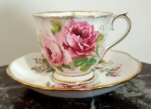 Royal Albert American Beauty tea cup and saucer Made in England