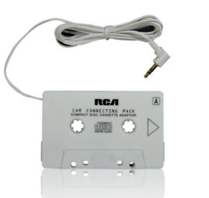 RCA CAR MP3/CD PLAYER CASSETTE ADAPTER - 5 FT Aux Connects Portable players NEW