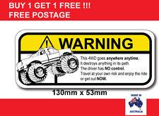 4WD Funny safety joke warning sticker popular car sticker