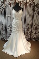 WW116 VENUS GV227 SZ 14 IVORY $1749 V NECK RHINESTONE STRAPS WEDDING GOWN DRESS