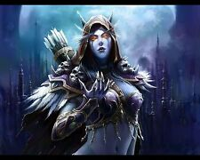 World of Warcraft WOW Sylvanas A4 260gsm cartel impresión