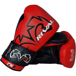Rival Boxing Evolution Hook and Loop Sparring Gloves - Red