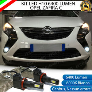 KIT FULL LED OPEL ZAFIRA C LAMPADE H10 FENDINEBBIA CANBUS 6400L 6000K NO ERROR