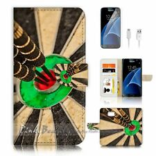 ( For Samsung S7 ) Wallet Case Cover P2086 Darts