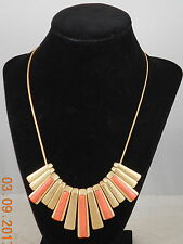 Kenneth Cole New York Goldtone CORAL CANYON Semi Precious Stone Paddle Necklace
