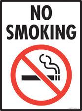 "No Smoking Aluminum Warning Sign - 9"" x 12"""