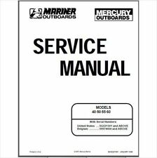 Mercury Outboard 40 50 55 60hp 2 Stroke OEM Factory Shop Repair Manual CD