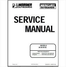 Mercury Outboard 40 50 55 60hp 2 Stroke OEM Factory Shop Repair Manual CD