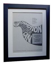 CAN+Flowmotion+KRAUTROCK+POSTER+AD+FRAMED+RARE ORIGINAL 1976+EXPRESS GLOBAL SHIP