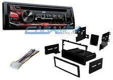 NEW JVC CAR STEREO RADIO DECK W/ FRONT AUX INPUT AND CD PLAYER INSTALLATION KIT
