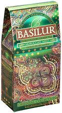 Basilur Tea - Green Tea with Morrocan Mint - 100g Loose Tea (Pack of 2)