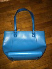 NWT Vera Bradley Genuine Leather Small Ella Tote in Coastal Blue!  WOW!