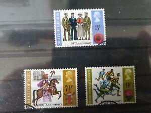 Great Britain 1971 British Anniversaries Events described on 3 stamp set used