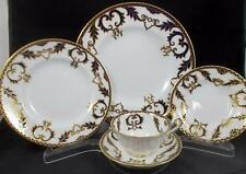 Royal Crown Derby MAJESTY 5 Piece Place Setting with Footed Cup A1292 GORGEOUS