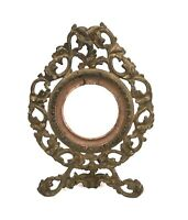 Antique Cast Iron Gold Painted Ornate Baroque Style Picture Frame Fits 2 7/8""