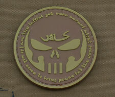 """PVC / Rubber Patch """"I am the Infidel"""" Tan with VELCRO® brand hook"""