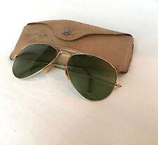 Vintage Aviator Bausch & Lomb Ray Ban 1/10 12K GF Sunglasses Pilot Shooter
