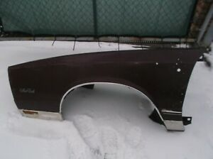 1981-1988  CHEVROLET MONTE CARLO  DRIVER FRONT FENDER  (USED) WILL NOT SHIP.