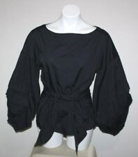 NWT MAX JEANS Womens Black Blouse Top Size XS