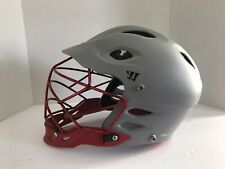 Warrior T2 (Tii) Lacrosse Helmet Matte Grey Red Chrome Face Mask