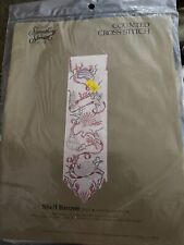 nautical shell banner counted cross stitch