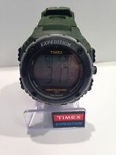 Timex T49951 Expedition Shock Resistant Digital Green Resin Band Men's Watch NEW