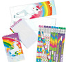 Pack of 36 Unicorn Stationery Pack, Pencils Bookmarks Notepads Party Fillers