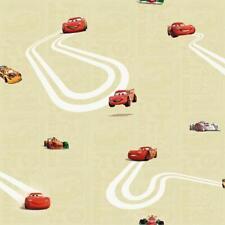 Official Cars Lightning McQueen Childrens Yellow Wallpaper CR3005-2